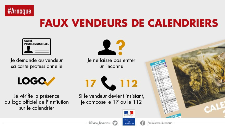 arnaques calendriers